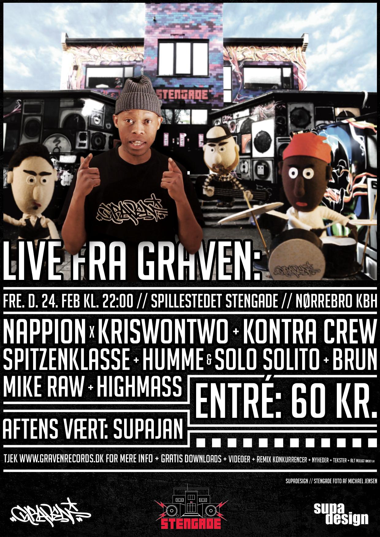 LIVE FRA GRAVEN // STENGADE