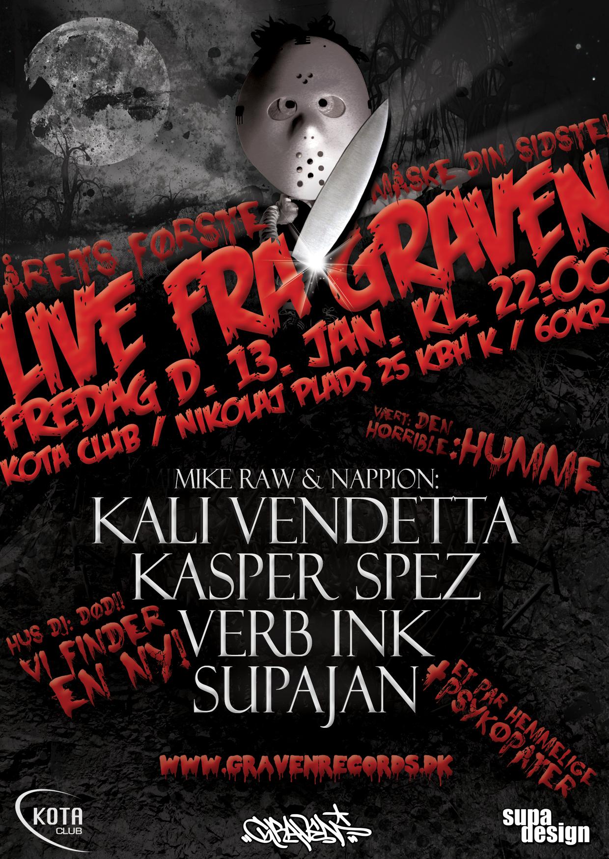 LIVE FRA GRAVEN // FREDAG D. 13.