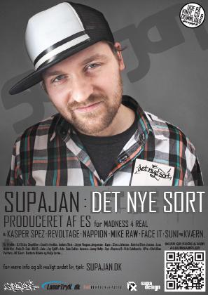 SUPAJAN // DET NYE SORT // flyer