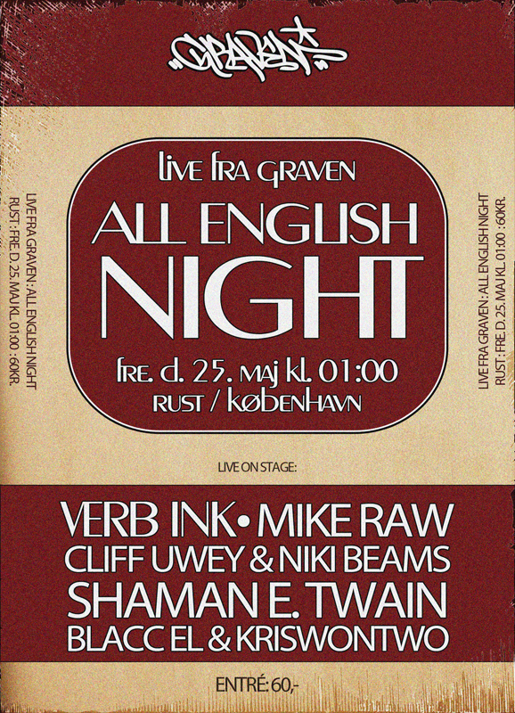 LIVE FRA GRAVEN // ALL ENGLISH NIGHT